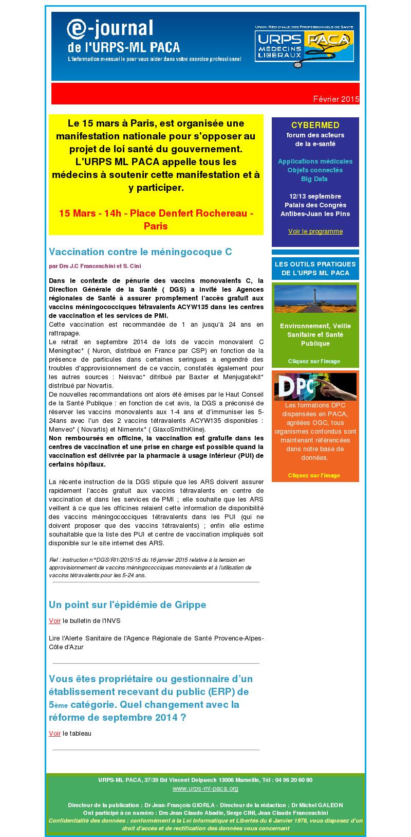 E-journal – Février 2015