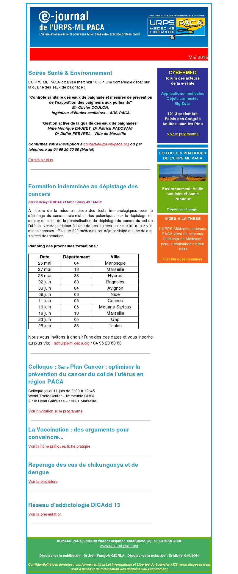 E-journal – Juillet 2015