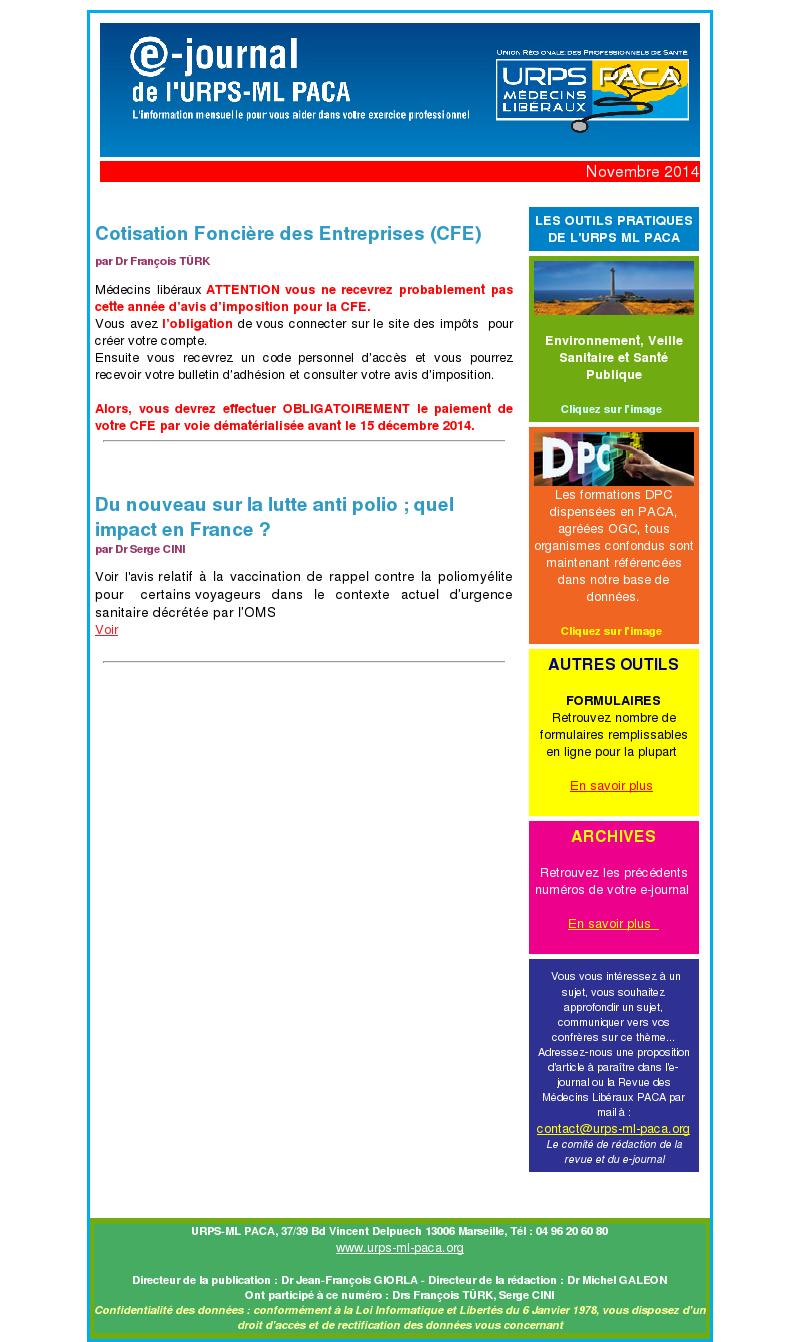 E-journal – Novembre 2014