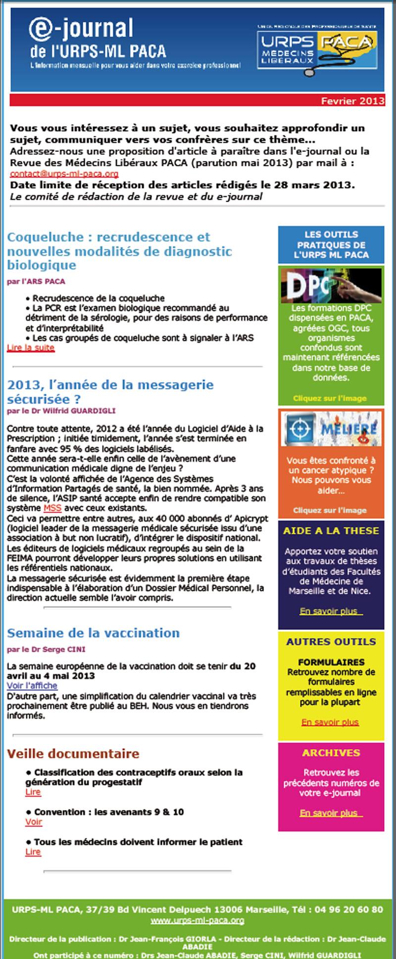 E-journal N°12 – Février 2013