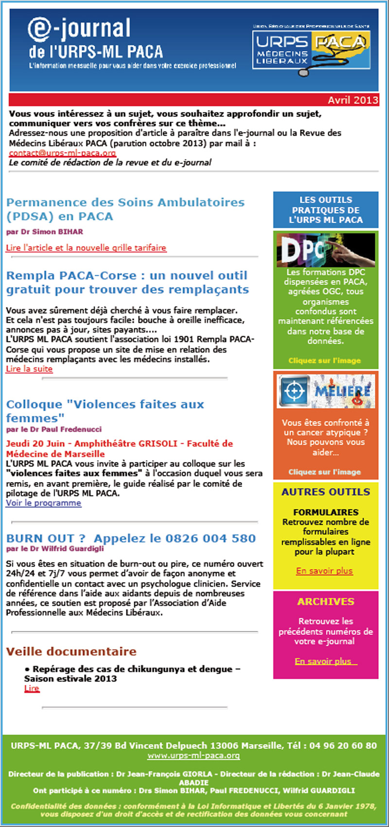 E-journal N°12 – Avril 2013