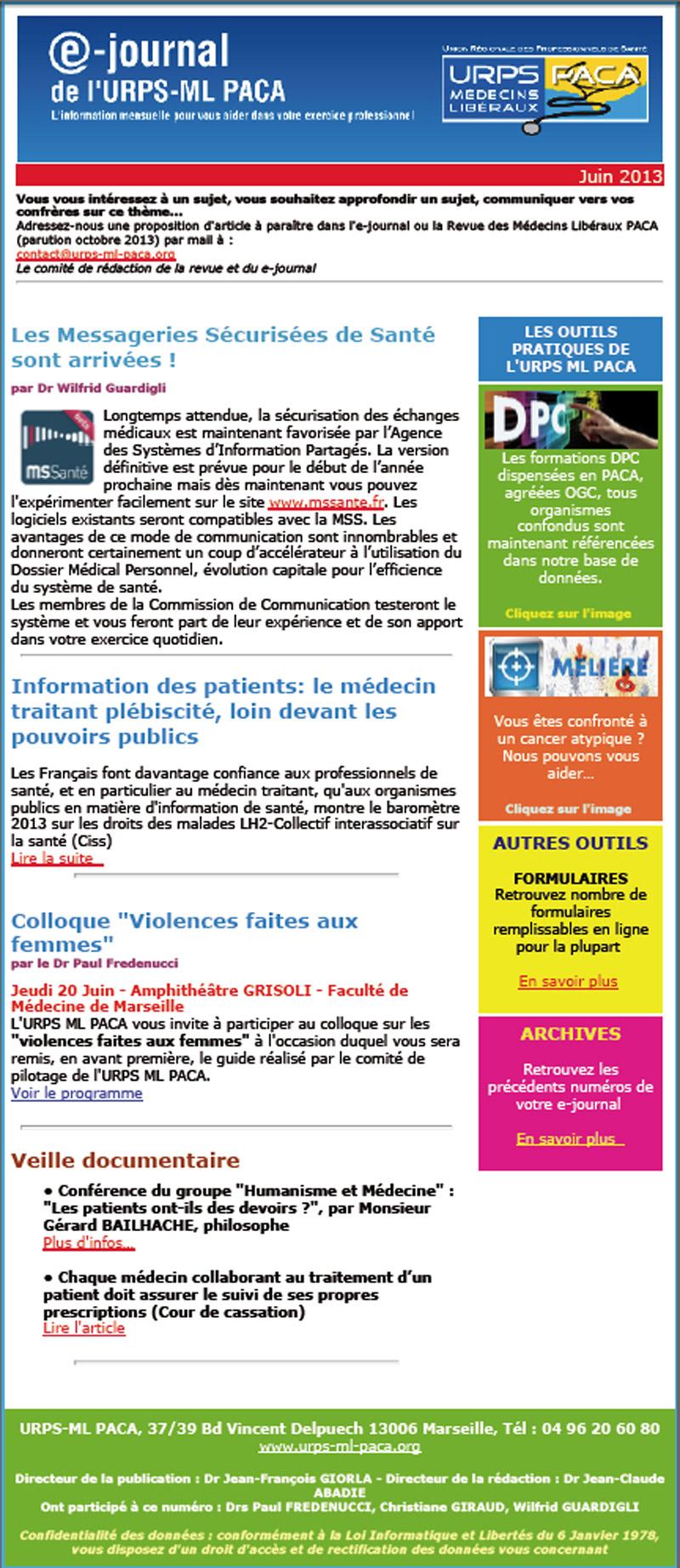 E-journal N°13 – Juin 2013